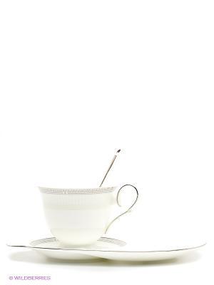 Чайный набор Венецианская Классика (Venice Classic Pavone) Pavone. Цвет: молочный, серый