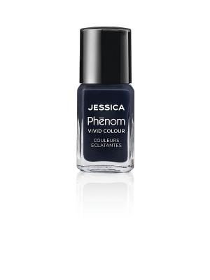 Phenom Цветное покрытие Vivid Colour Blue Blooded № 10, 15 мл JESSICA. Цвет: темно-синий