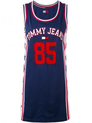 Спортивное платье-майка Tommy Jeans. Цвет: синий