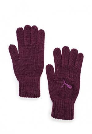 Перчатки Puma. Цвет: фиолетовый