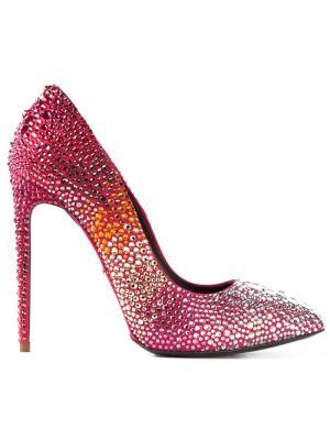Украшенные кристаллами туфли Allure Marco Proietti Design. Цвет: розовый и фиолетовый