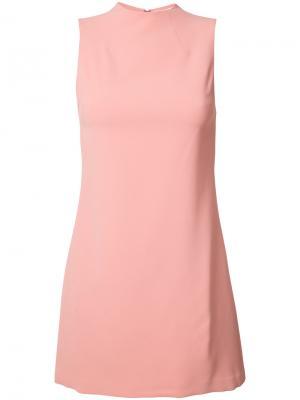 Мини-платье без рукавов Alice+Olivia. Цвет: розовый и фиолетовый