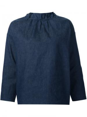 Блузка свободного кроя Atlantique Ascoli. Цвет: синий