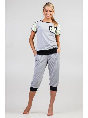 Пижама Vilana. Цвет: серый