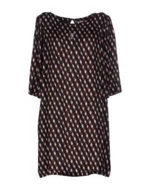 Короткое платье SIYU. Цвет: темно-синий