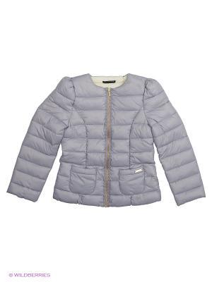 Куртка Sisley Young. Цвет: серо-голубой, голубой, светло-серый