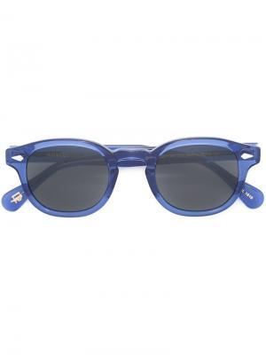 Солнцезащитные очки Lemtosh Moscot. Цвет: синий