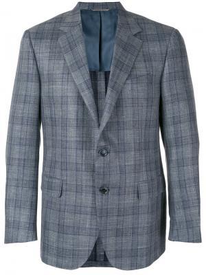 Пиджак в клетку Canali. Цвет: серый