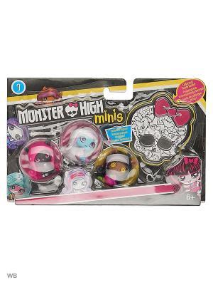 Мини фигурки в ассортименте 3 шт. Monster High. Цвет: фуксия