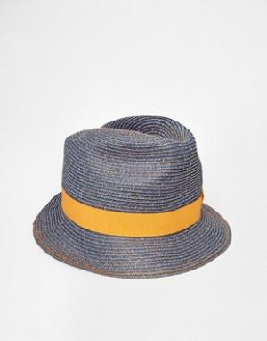 Catarzi Соломенная шляпа. Цвет: синий