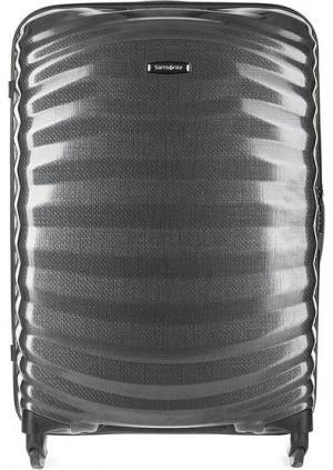 Маленький пластиковый чемодан на колесах Samsonite. Цвет: серый