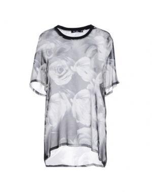 Блузка BLK DNM. Цвет: светло-серый