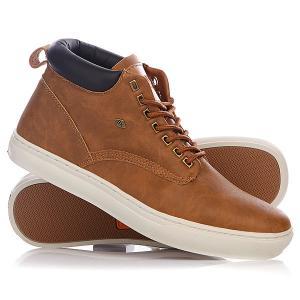 Кеды кроссовки высокие  Wood Cognac/Dark Old Brown British Knights. Цвет: коричневый