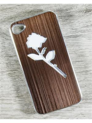 Чехол для телефона Apple iPhone 4/4s MACAR. Цвет: серый