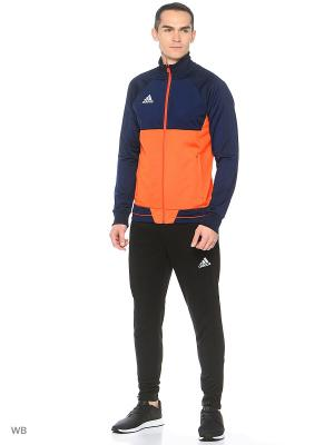 Куртка TIRO17 PES JKT Adidas. Цвет: темно-синий, красный
