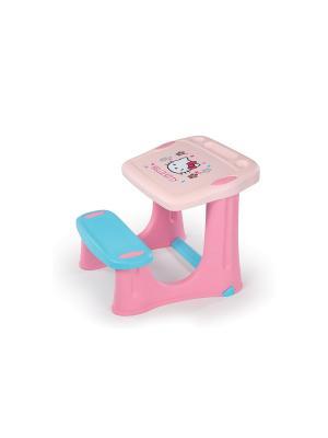 Парта Hello Kitty, 56*57*52 см, 1/1 Smoby. Цвет: розовый, голубой