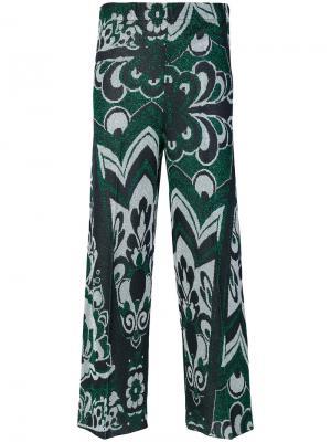 Укороченные брюки с принтом Circus Hotel. Цвет: многоцветный