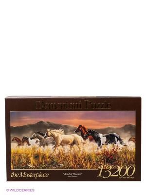 Пазл Джеймс Хотман Бегущие кони, 13200 эл. Clementoni. Цвет: коричневый