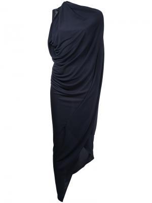 Платье Origami Bianca Spender. Цвет: синий