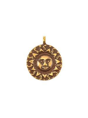Амулет защитный Солнце Aztek. Цвет: желтый