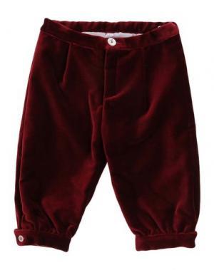 Повседневные брюки LA STUPENDERIA. Цвет: красно-коричневый