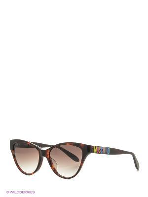 Солнцезащитные очки MO 781S 02 MOSCHINO. Цвет: темно-коричневый