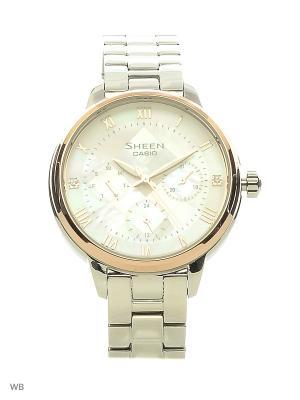 Часы Sheen SHE-3055SG-7A CASIO. Цвет: светло-бежевый