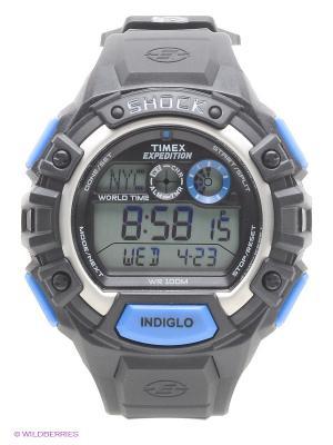 Часы TIMEX. Цвет: черный, синий