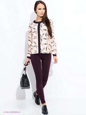 Блузка Colambetta. Цвет: розовый, белый, черный