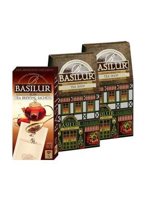 Набор  Чай Чайный магазин Basilur. Цвет: черный