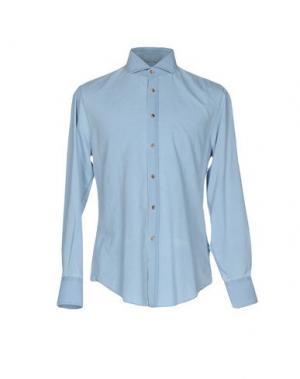 Джинсовая рубашка BRUNELLO CUCINELLI. Цвет: небесно-голубой