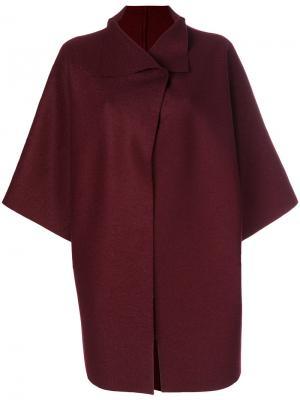 Свободный пиджак-кейп Harris Wharf London. Цвет: красный