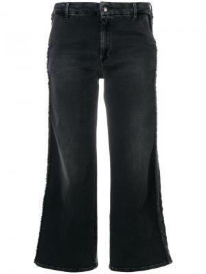 Укороченные джинсы с бахромой The Seafarer. Цвет: чёрный