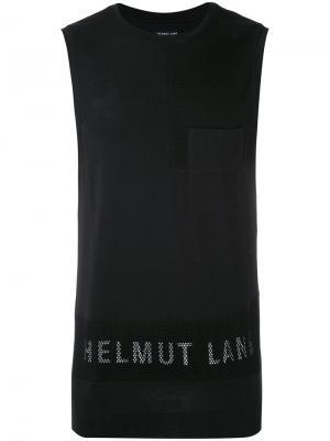 Майка с логотипом бренда Helmut Lang. Цвет: чёрный