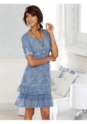 Платье Linea Tesini. Цвет: голубой