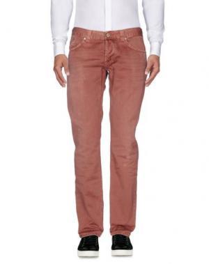 Повседневные брюки DONDUP. Цвет: кирпично-красный