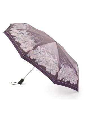 Зонт женский автомат Henry Backer Хризантемы. Цвет: бежевый
