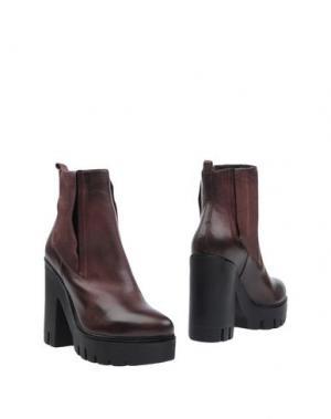 Полусапоги и высокие ботинки CRIME London. Цвет: какао