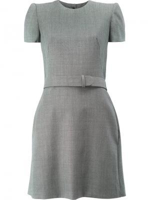 Платье с расклешенной юбкой Alexander McQueen. Цвет: чёрный
