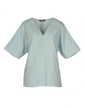 Блузка WEMOTO. Цвет: синий