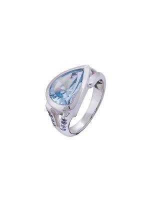 Кольцо Мастер Клио. Цвет: серебристый, синий, голубой