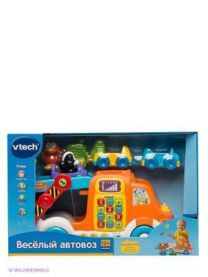 Игрушка Веселый автовоз Vtech. Цвет: оранжевый, голубой, красный