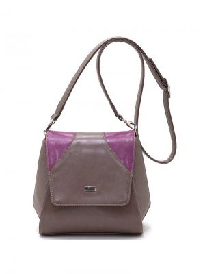 Сумка Solo true bags. Цвет: темно-серый, фиолетовый