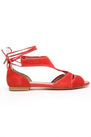 Сандалии DERI&MOD. Цвет: красный