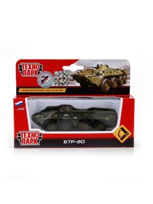 Военная техника БТР-80 Технопарк металлический, инерционный Смерч.. Цвет: зеленый,черный