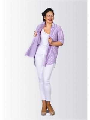 Рубашка Лагуна. Цвет: сиреневый
