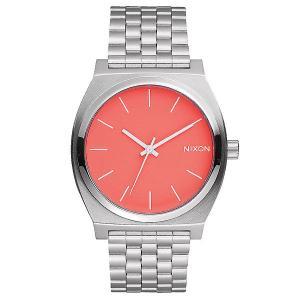 Часы  Time Teller Bright Coral Nixon. Цвет: серый,розовый