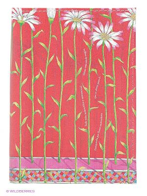 Обложка для паспорта Ромашки на красном Mitya Veselkov. Цвет: красный