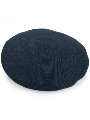 Ribbed knit beret Kijima Takayuki. Цвет: синий