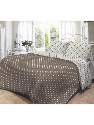 Комплект постельного белья, Мадлена Волшебная ночь. Цвет: светло-серый, коричневый